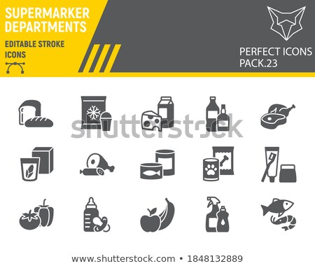 Carne mercado departamento ícone cor projeto Foto stock © angelp