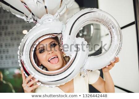 menyasszony · mutat · gyűrű · portré · nő · nők - stock fotó © studiolucky
