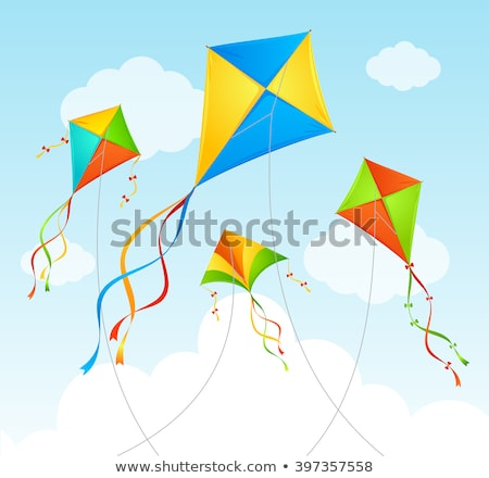 Kite hemel icon stencil ontwerp papier Stockfoto © angelp