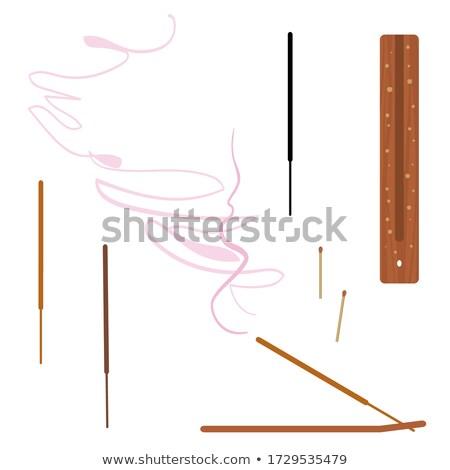 vector set of incense stick stock photo © olllikeballoon
