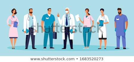 Photo stock: Personnage · cardiologue · médecin · homme · femme · vecteur