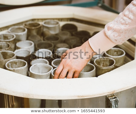 Klei creatieve granaatappel penselen bos bril Stockfoto © pressmaster