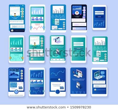 Telefone móvel infográficos cor diferente cores vetor Foto stock © robuart