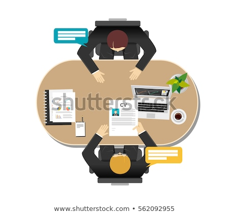 Job Interview Vector Poster. Boss Interviewing Stock photo © robuart