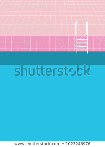 summer swimming pool posters vector illustration stock photo © robuart