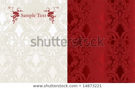 Vintage decor ornamented pattern Vector. Victorian texture. deco Stock photo © frimufilms