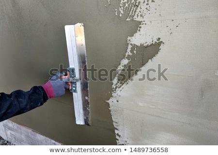 Szigetelés fal közelkép háló ház épület Stock fotó © simazoran
