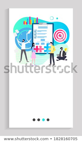 Implementing Business Solution Website with Text Stock photo © robuart