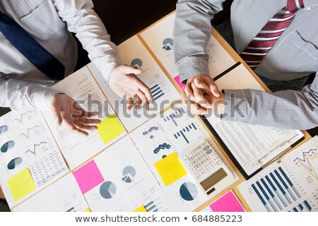 Teamwork process, Two young business colleagues managers crew wo stock photo © Freedomz