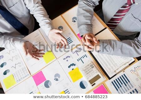 Travail d'équipe processus deux jeunes affaires collègues Photo stock © Freedomz