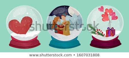クリスマス 雪 お土産 ヴィンテージ セット ストックフォト © pikepicture