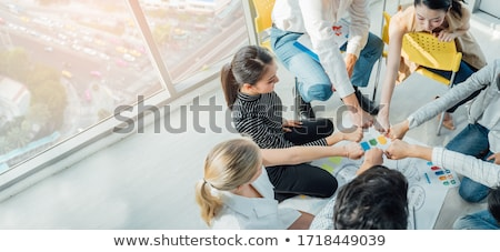 Teamwork togetherness unity support, Business corporate people w Stock photo © Freedomz