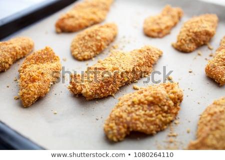 Caseiro frango dedo profundo frango assado limão Foto stock © trexec