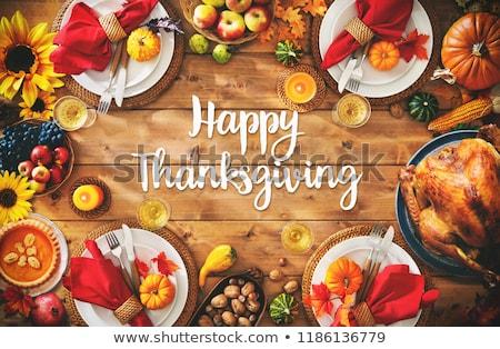 happy thanksgiving day stock photo © choreograph