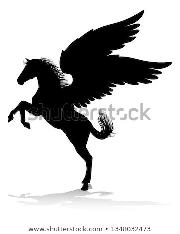 Ló ötlet illusztráció erős erőteljes görög Stock fotó © Krisdog