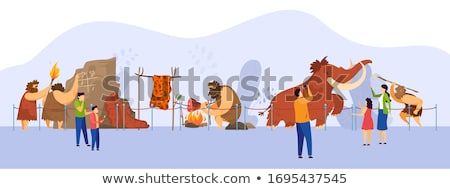 Exhibition in Natural History Museum with Mammoth Stock photo © robuart