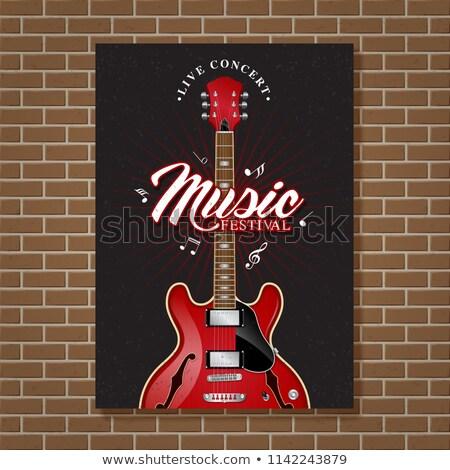 Rock rotolare vintage record vettore musica Foto d'archivio © barsrsind
