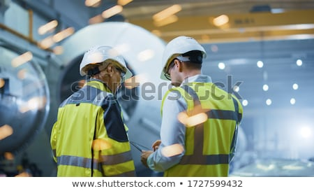 Man and women worker in the metalworking industry Stock photo © Kzenon