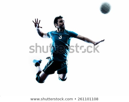 Röpte labda kéz röplabda sziluett stúdió Stock fotó © Lopolo