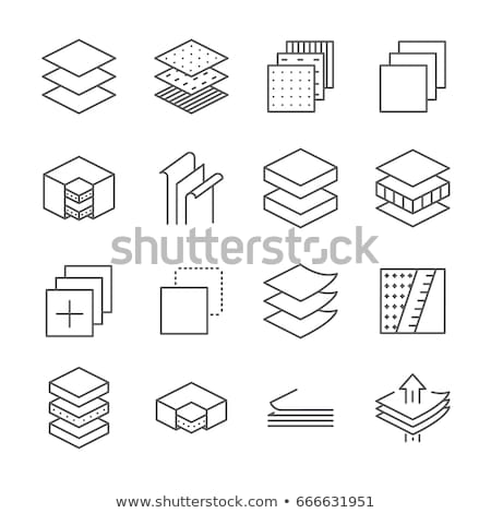 Breathable Layers Icon Vector Outline Illustration Stock photo © pikepicture