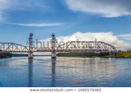 Chemin de fer pont Russie chemin de fer type rivière Photo stock © borisb17