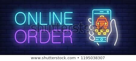 порядка онлайн красочный дизайна стиль баннер Сток-фото © Decorwithme