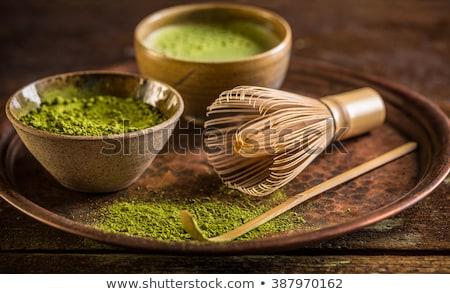 Té bambú batidor japonés verde cuchara Foto stock © furmanphoto