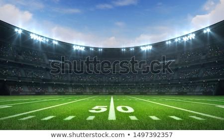 Szkolenia stadion amerykański piłka nożna trzy gry Zdjęcia stock © robuart