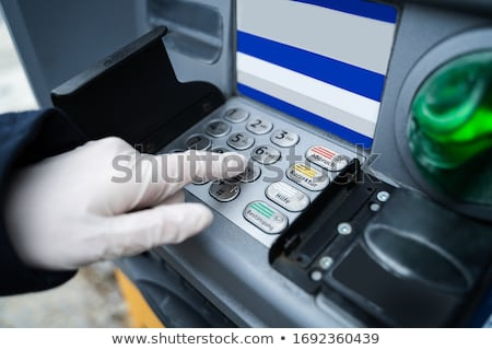 Wearing Gloves While Using ATM Stock photo © AndreyPopov