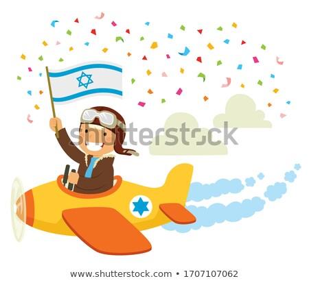 израильский день самолет празднования экспериментального Flying Сток-фото © ayelet_keshet