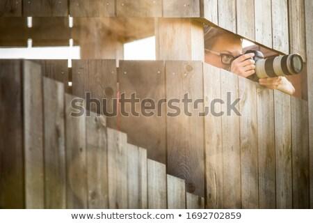 かなり 女性 カメラマン 撮影 高速 ストックフォト © lightpoet