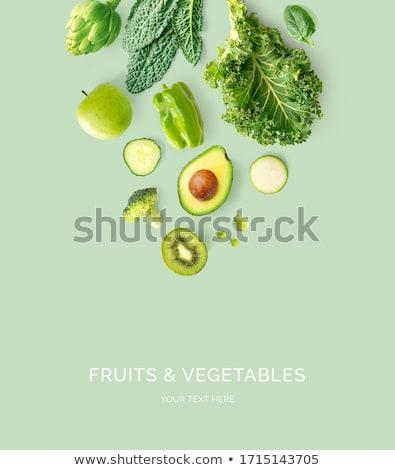 Vegetarisch eten ingesteld soep gebak pompoen zaden Stockfoto © olira