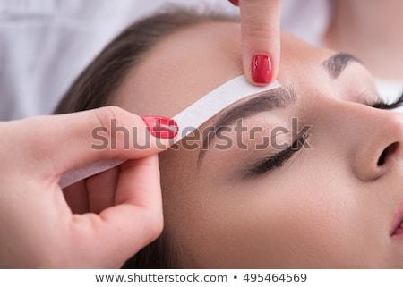 Depilação com cera salão estância termal cabelo remoção mulher Foto stock © AndreyPopov