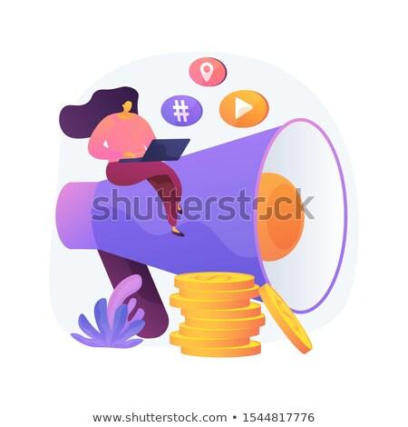 Social media ad vector concept metaphor. Stock photo © RAStudio