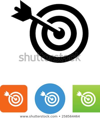 целевой аудитории вектора икона изолированный белый Сток-фото © smoki