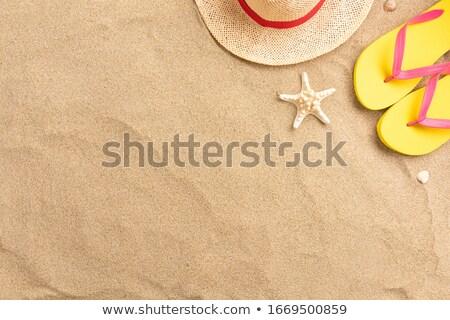 Set Sandstrand Illustration Gebäude Meer Paar Stock foto © bluering