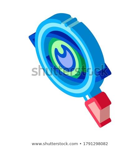Auge optische Untersuchung Symbol Vektor Stock foto © pikepicture
