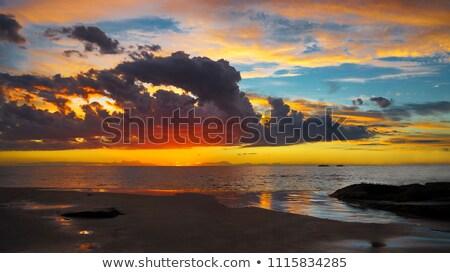 Sunset over the Indian ocean Stock photo © Komar
