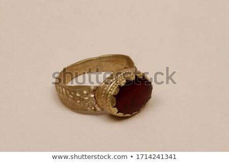 antigo · anel · feito · à · mão · moda · projeto · metal - foto stock © lubavnel
