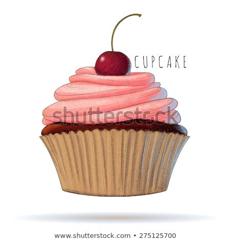 砂糖漬けの 桜 レモン バタークリーム ピンク ストックフォト © aladin66