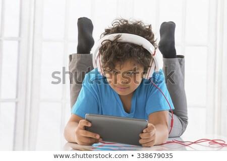 Kind muziek luisteren mp3 technologie Stockfoto © lovleah