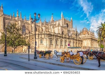 Katedral detay Gotik barok ünlü çan Stok fotoğraf © aladin66