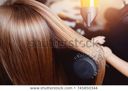 ストックフォト: 女性 · 髪 · バス · クリーン · 空気 · 新鮮な