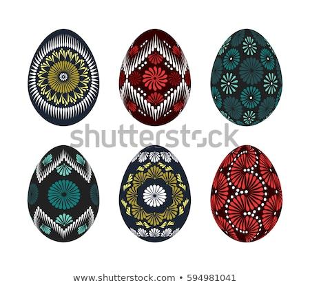 коллекция · восточных · яйца · Кролики · продовольствие · зеленый - Сток-фото © jelen80