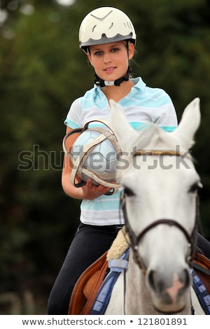 Young blond woman playing Horse ball Stock photo © photography33