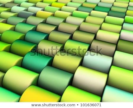 Streszczenie 3d wielokrotność zielone cylinder tle Zdjęcia stock © Melvin07