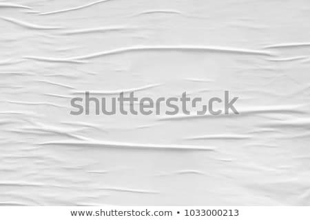 Ráncos papír részben szakadt fehér papír textúra Stock fotó © jamdesign