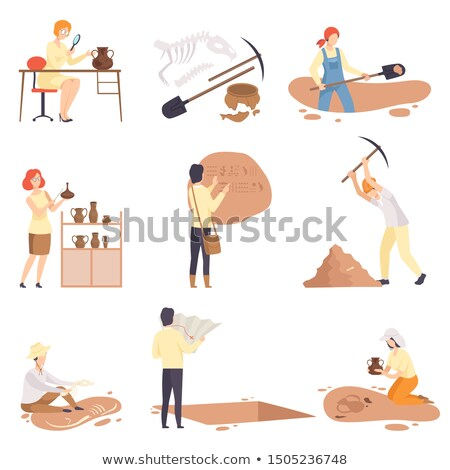 Man kneeling with pick-axe Stock photo © photography33
