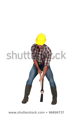 Worker using a pickaxe Stock photo © photography33