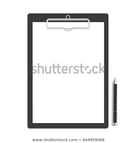 Clipboard with a blank paper and pen stock photo © JohanH